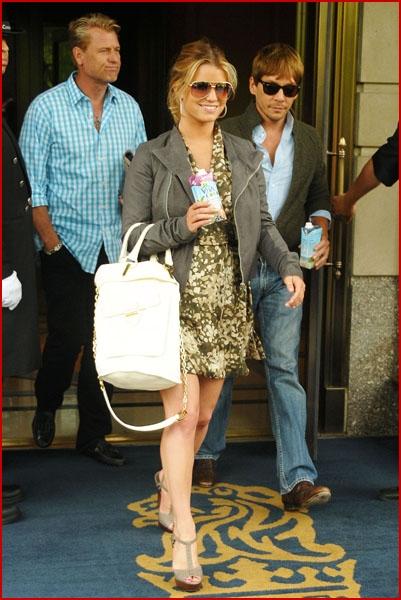 Jessica Simpson drinking Vita Coco